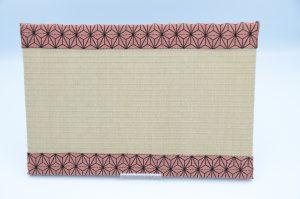 ミニ畳(中)和紙灰桜xあさぎりピンク